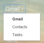 Google Task Drop Down Menu
